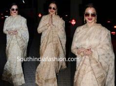 rekha saree high neck blouse