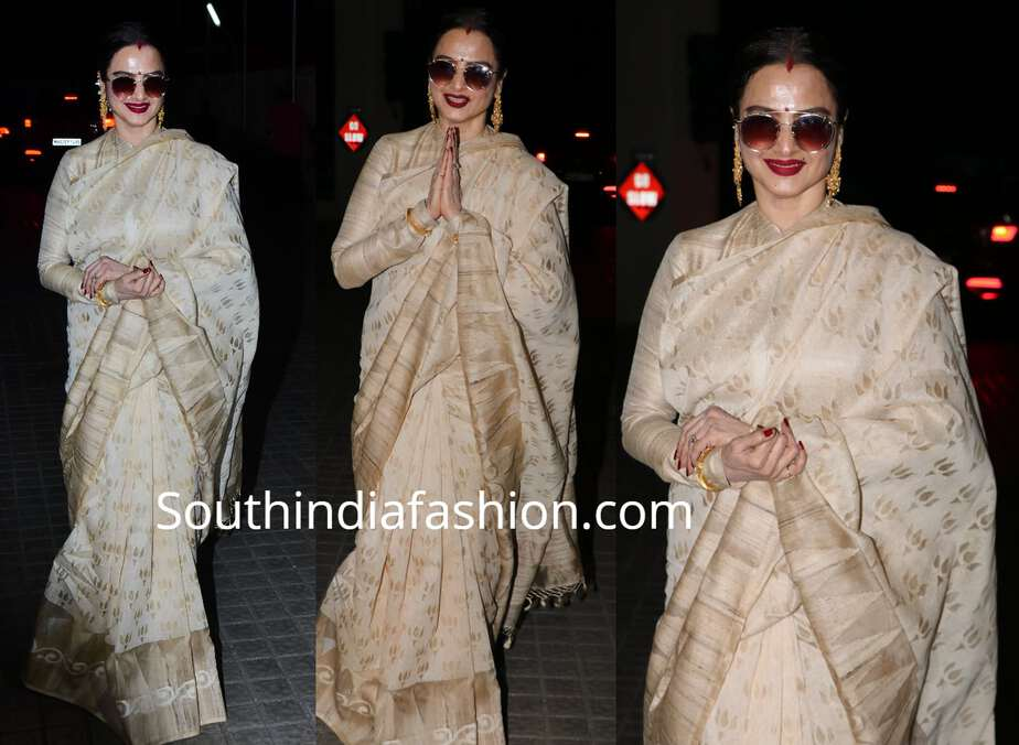 rekha saree high neck blouse