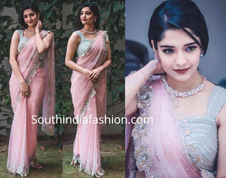 ritika singh pink saree architha narayanam
