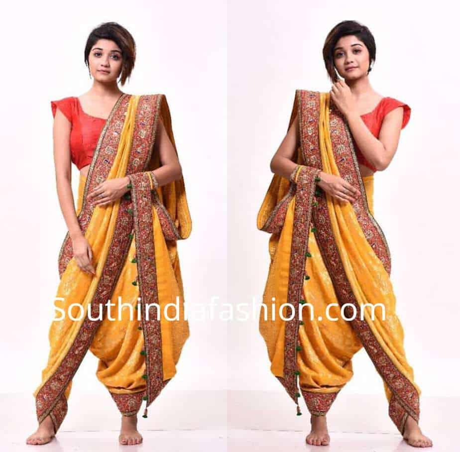wear saree as dhoti