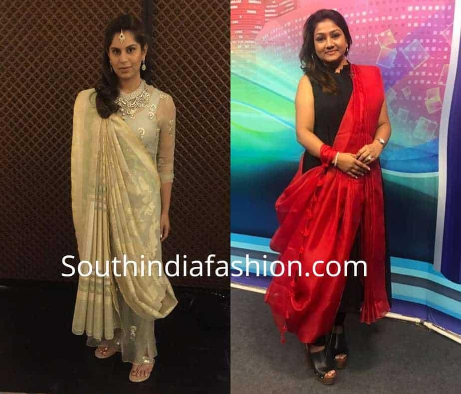 saree with kurta
