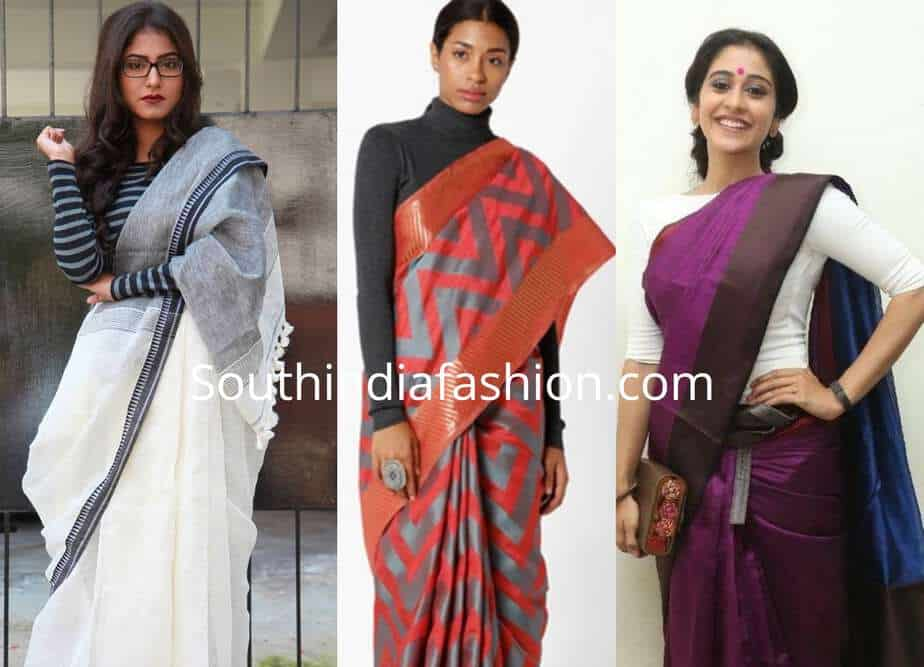 sarees with t shirts