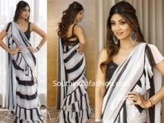 shilpa shetty black and white saree arpita mehta
