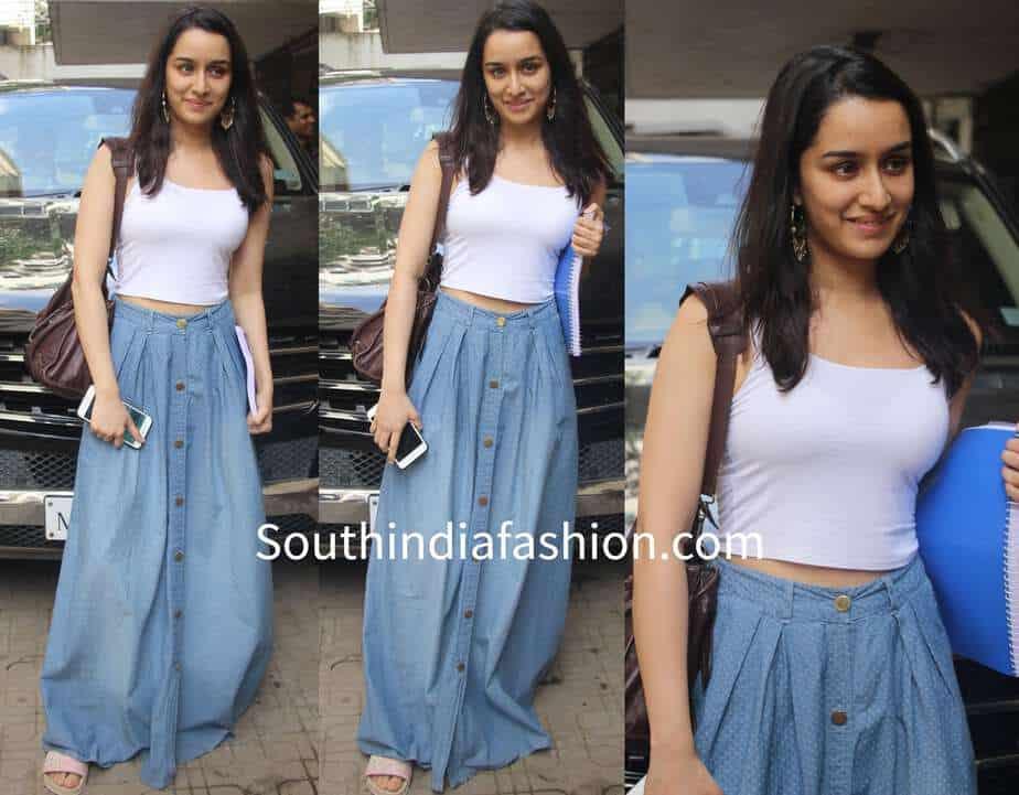 ed77701dda457 Shraddha Kapoor s Casual Look – South India Fashion