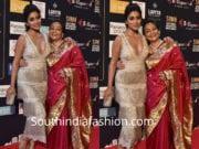 shriya saran with mother at siima awards 2018