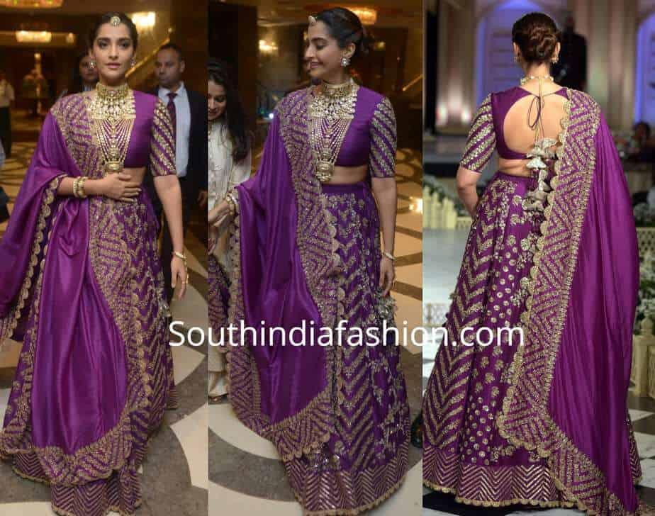 sonam kapoor in purple lehenga by jayanti reddy