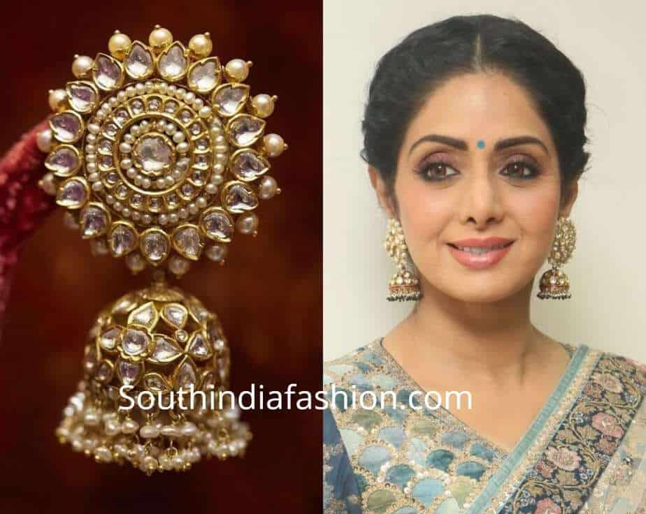 statement jhumkas with ethnic wear