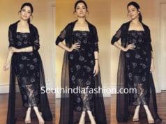 tamannaah black dress