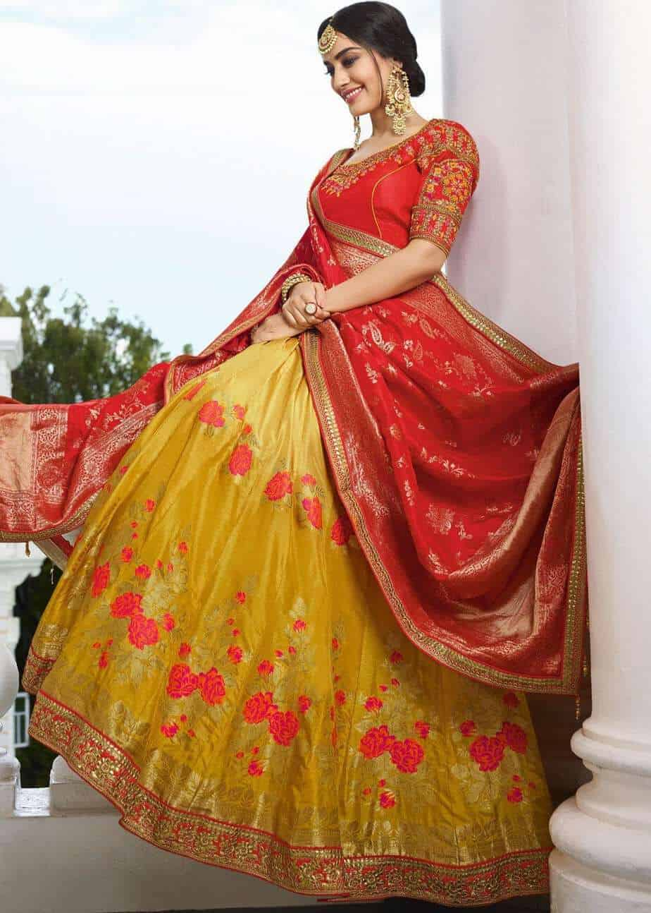 1e8d1cb5ae Bride and Baraat Lehenga Choli Collection by Haya Creations!