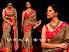 anchor anasuya saree rangasthalam dance show