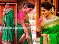 kiki vijay green saree anju shankar