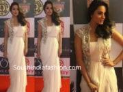 anita hassanandani white saree with jacket
