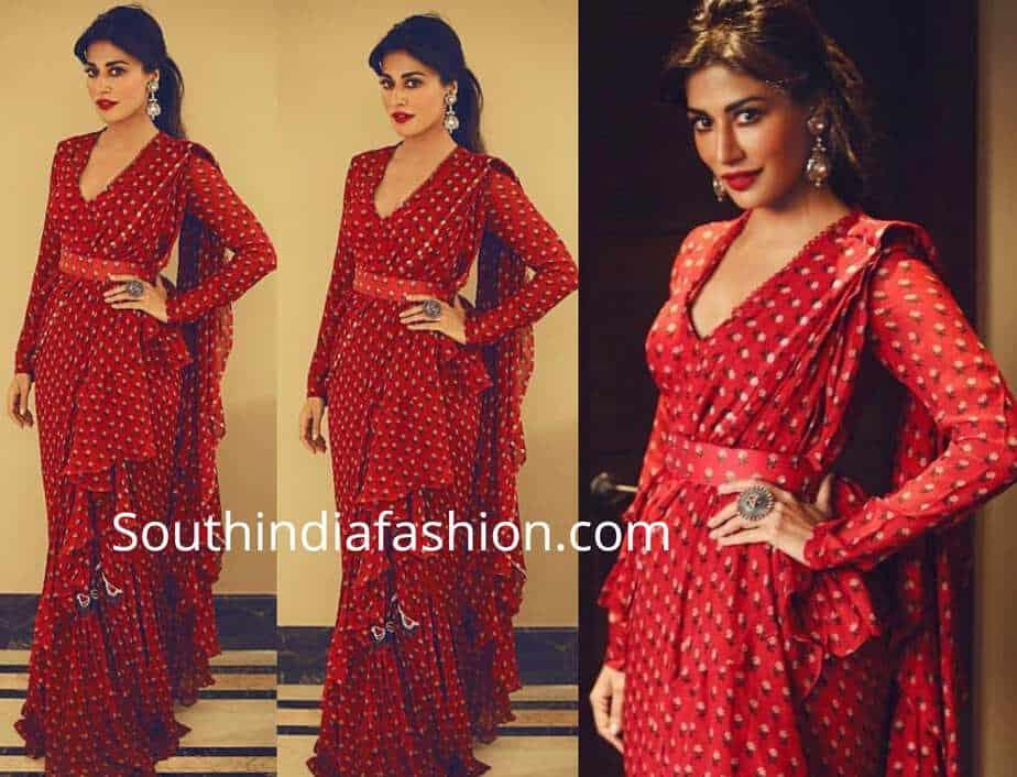 chitrangda singh red saree
