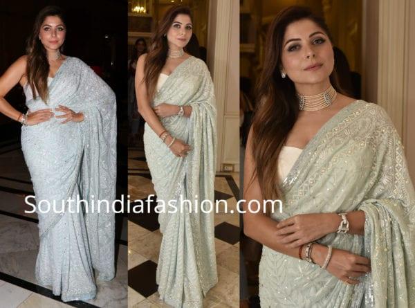 Kanika Kapoor in House of Chikankari - South India Fashion