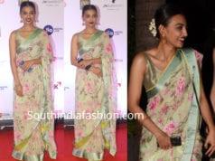 radhika apte floral saree mami mumbai film festival