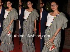 maria goretti ruffle saree mami mumbai film festival