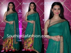 soundarya sharma half saree