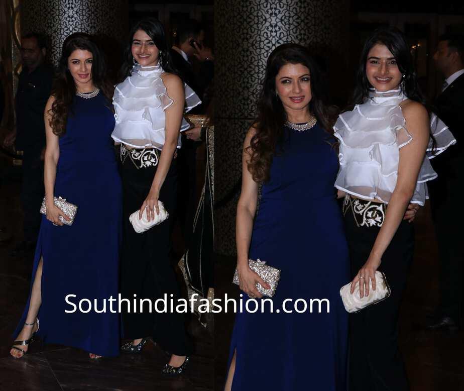 bhagya shree with daughter avanthika