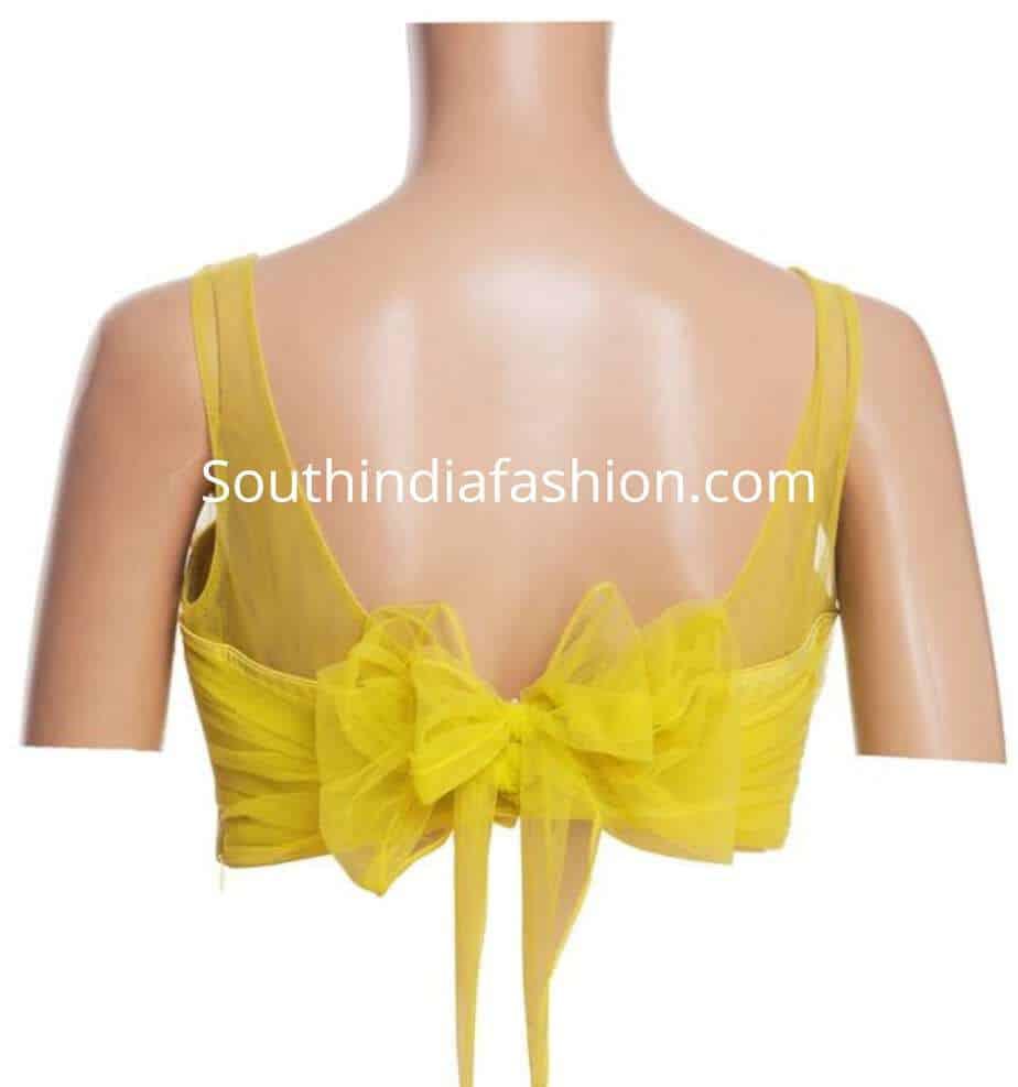 unique blouse back neck designs