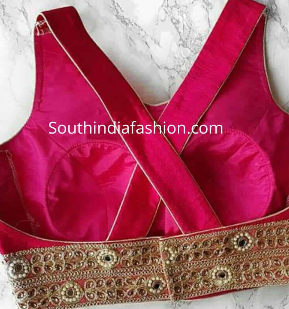 trendy blouse back neck designs