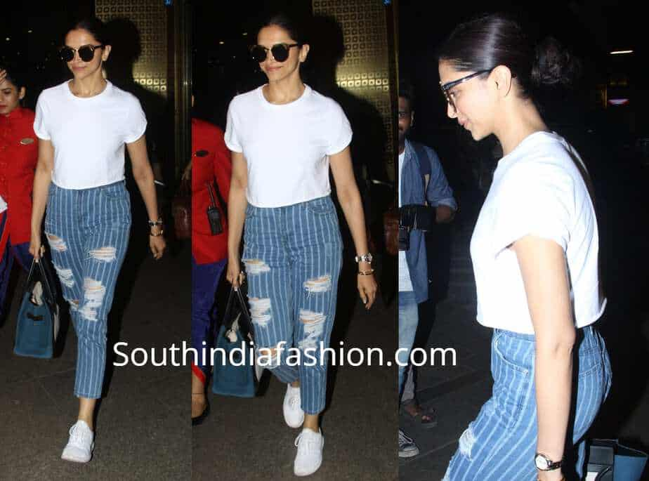 118a78b50c Deepika Padukone s Casual Airport Look – South India Fashion