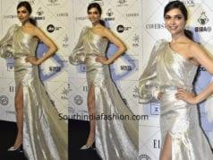 deepika padukone silver gown elle beauty awards 2018