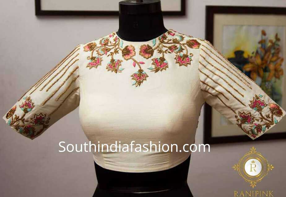 blouse designs for silk sarees by ranipink studio