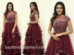 eesha rebba maroon gown at aravinda sametha success meet