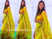 geetha madhuri yellow saree