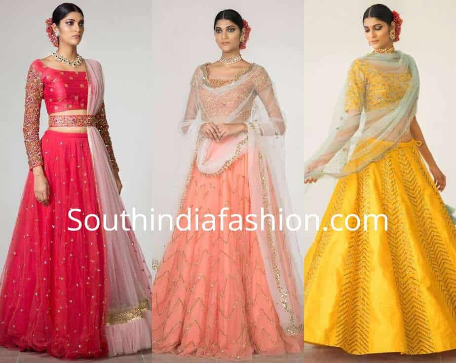 geethika kanumilli lehenga collection