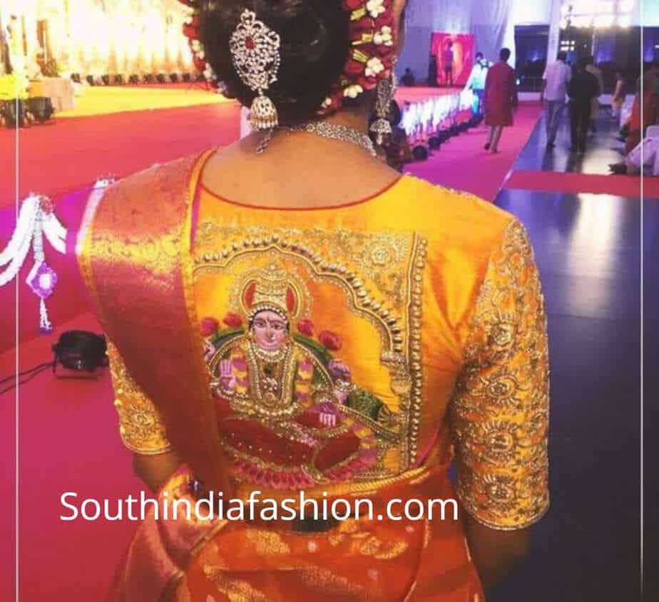 saree blouse designs with gods