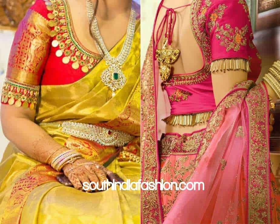 Traditional Blouse Designs For Pattu Sarees