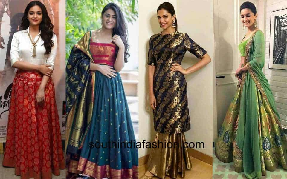 how to use old silk sarees