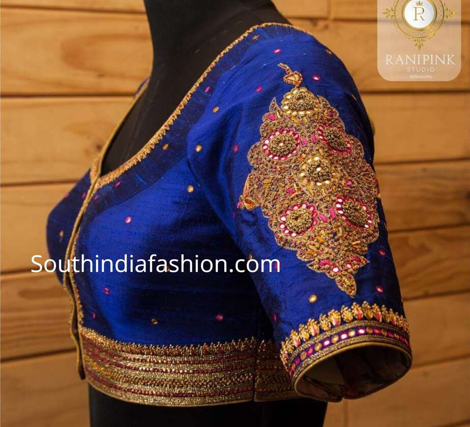 95b16d459daad Latest Maggam Work Blouse Designs by Ranipink Studio! – South India ...