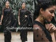 lavanya tripathi black saree