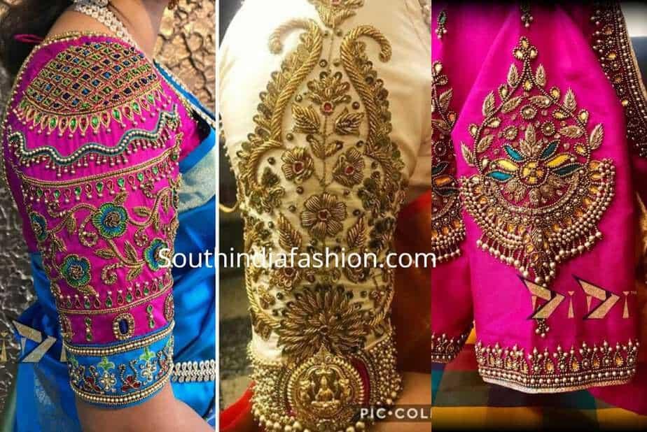 c807b95743448 6 Beautiful Traditional Blouse Designs For Pattu Sarees!