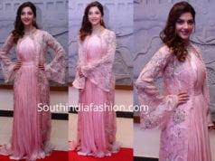 mehreen pirzadaa pink dress nota press meet