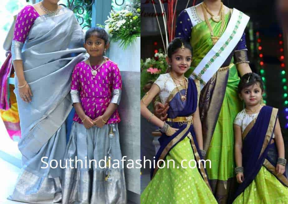 mother daughter matching indian dresses for wedding