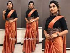 nakshatra nagesh saree with belt