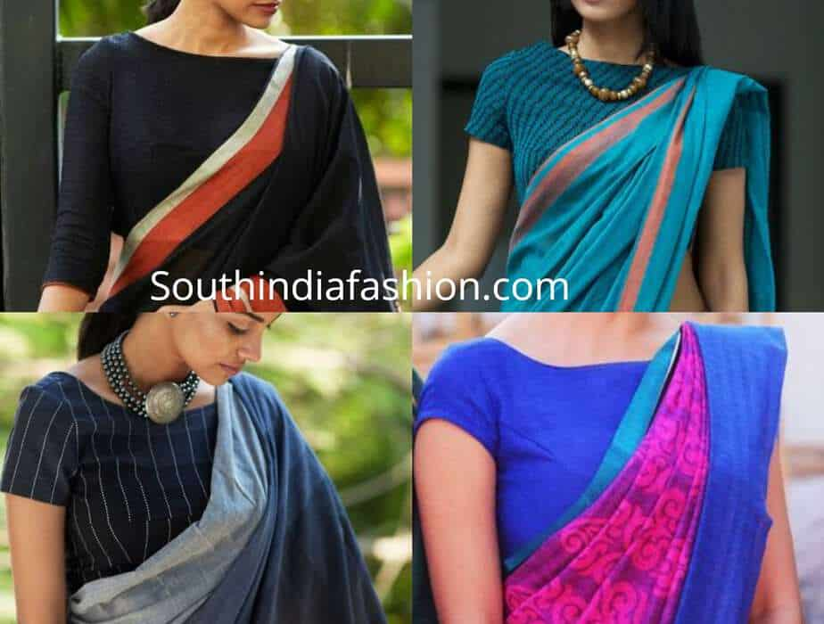 office wear blouse patterns for sarees