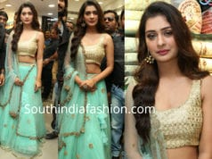 payal rajput blue lehenga klm fashion mall opening