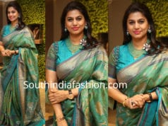 pinky reddy green saree