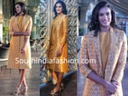 pv sindhu yellow dress ht leadership summit