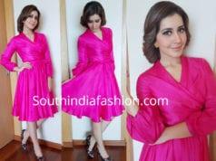 raashi khanna pink dress big c store launch
