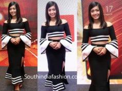 rashmika mandanna black skirt