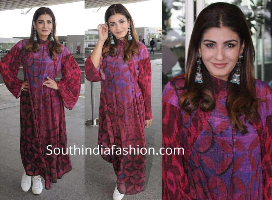 raveena tandon airport look maxi dress