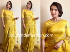 samantha akkineni yellow saree raw mango