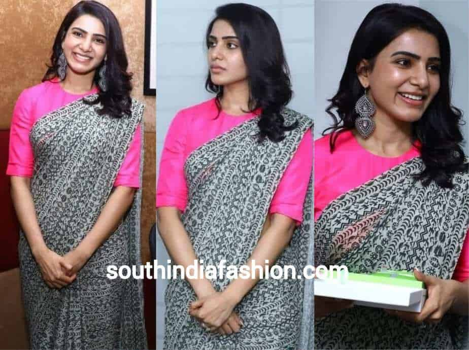 samantha simple black saree