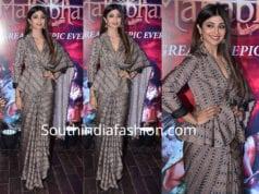 shilpa shetty saree with jacket