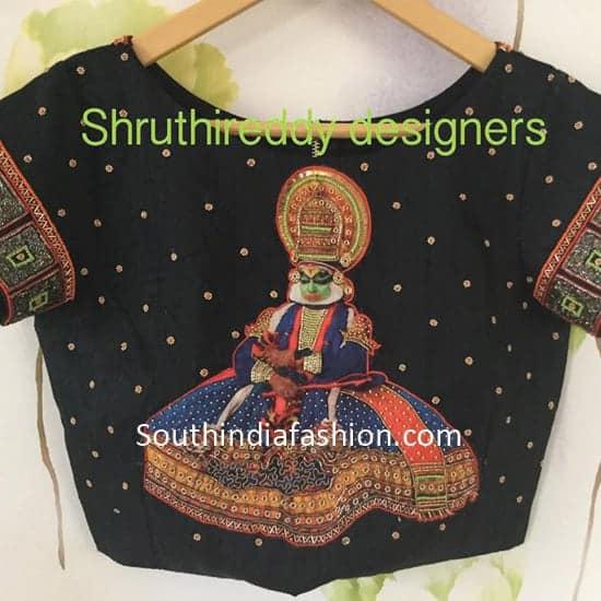 shruthi-reddy-designers-latest-saree-blouse-kathakali-designs (10)